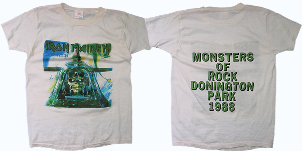 vintage iron maiden monsters of rock