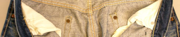 vintage levis jeans with hidden rivets