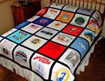 vintage shirt bed quilt